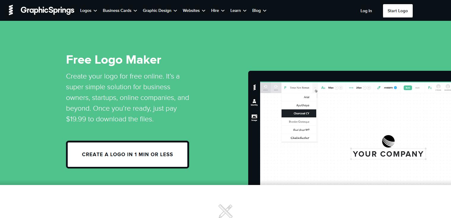 Graphical logo designing tool