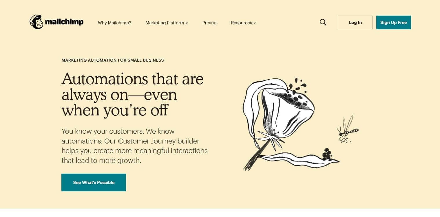 Plataforma de marketing de automatización MailChimp