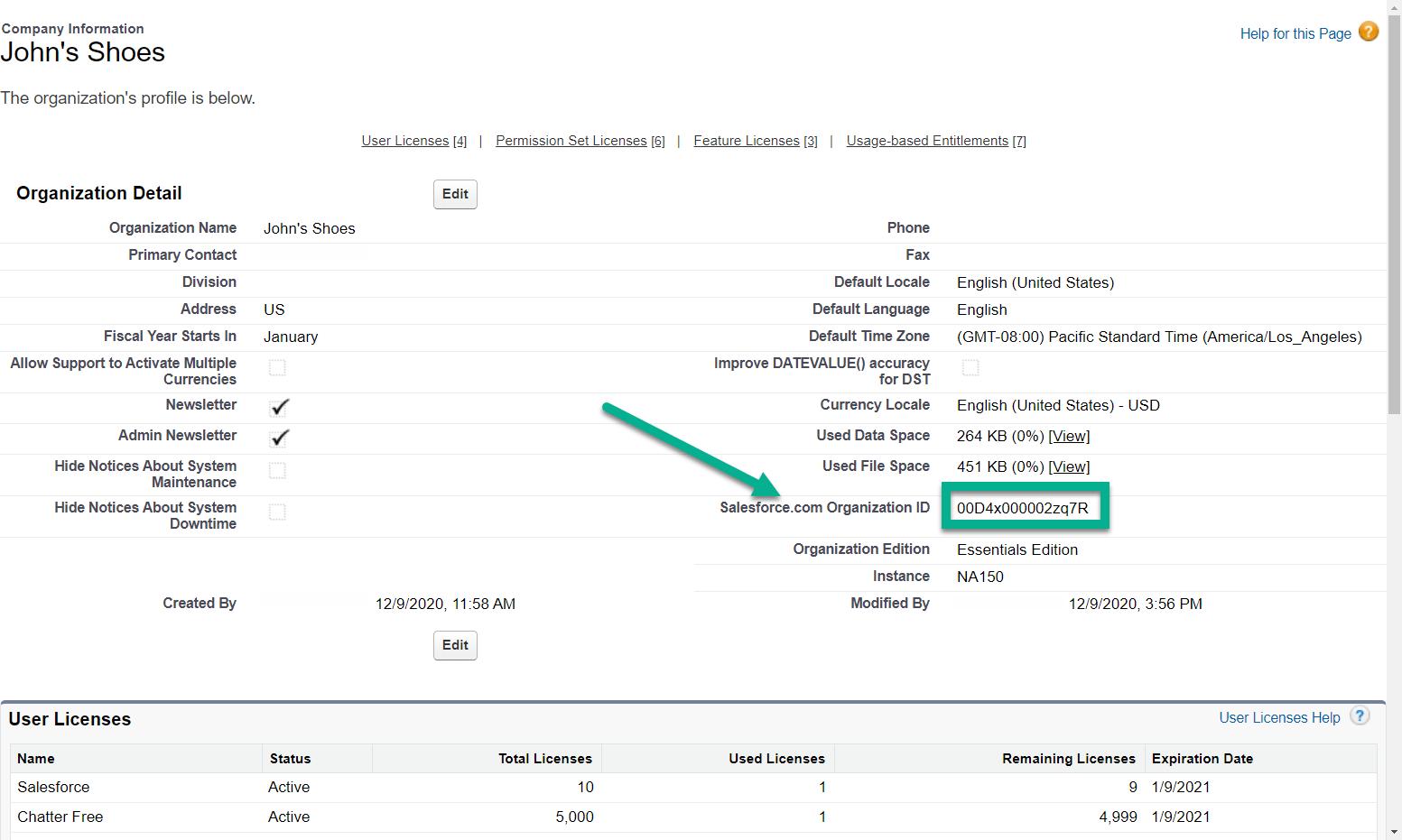 copie o código para a integração do WordPress Salesforce