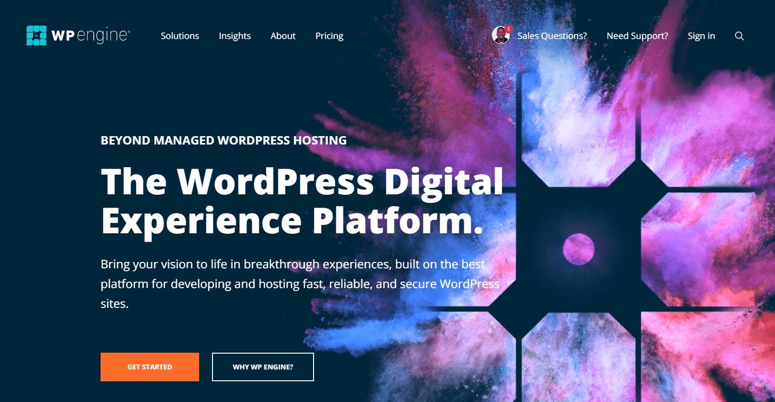 Fastest WordPress hosting: WP Engine