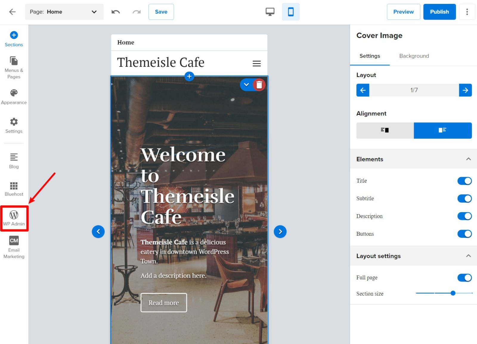 Open WordPress dashboard