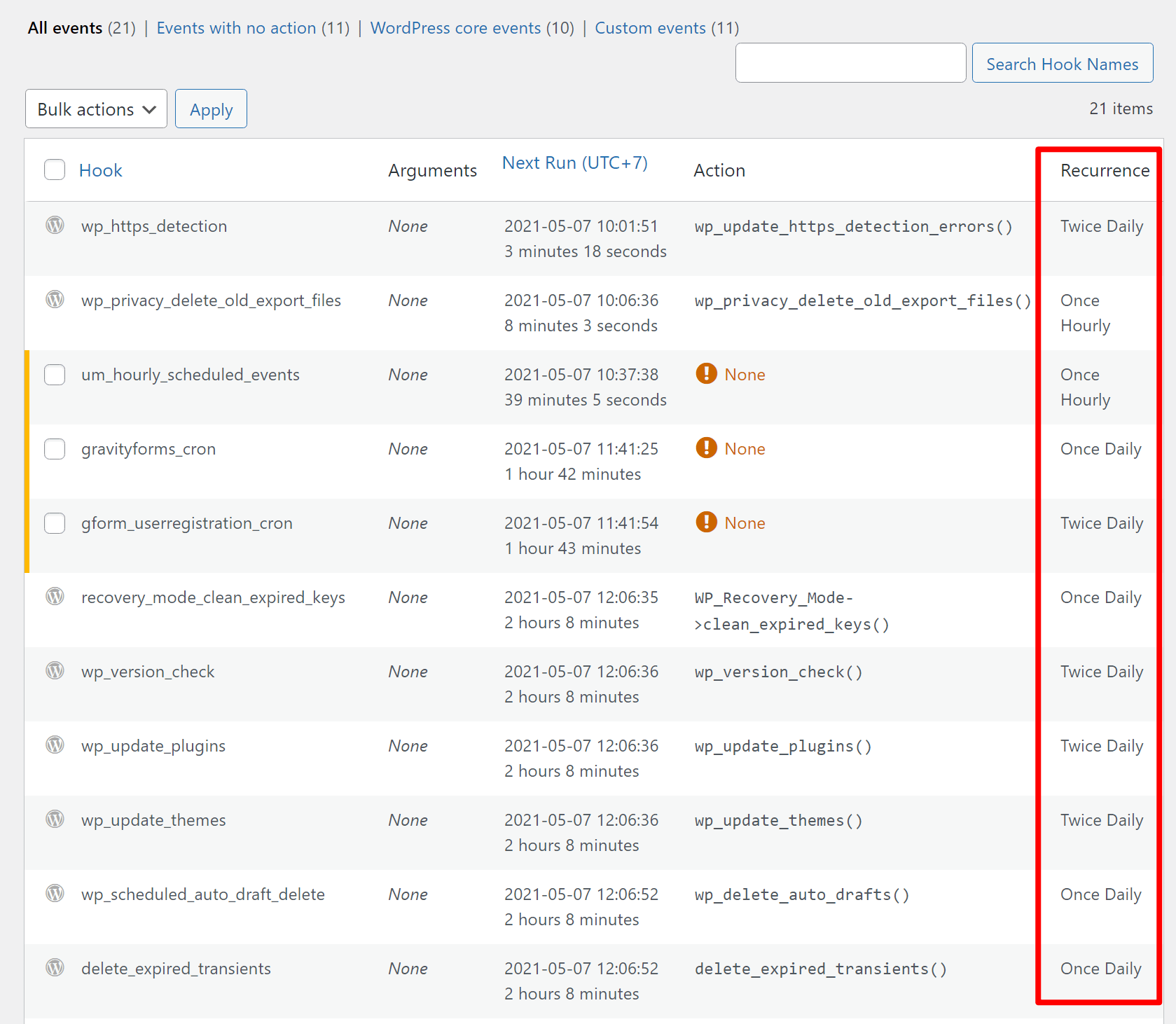 The WP-Crontol plugin lets you see tasks before you disable wp-cron