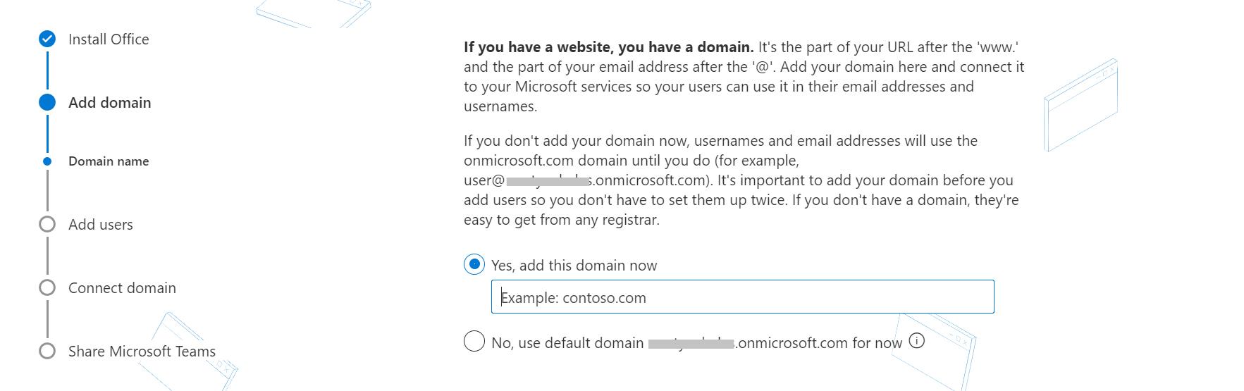 Configure una dirección de correo electrónico personalizada agregando un dominio a Office 365.