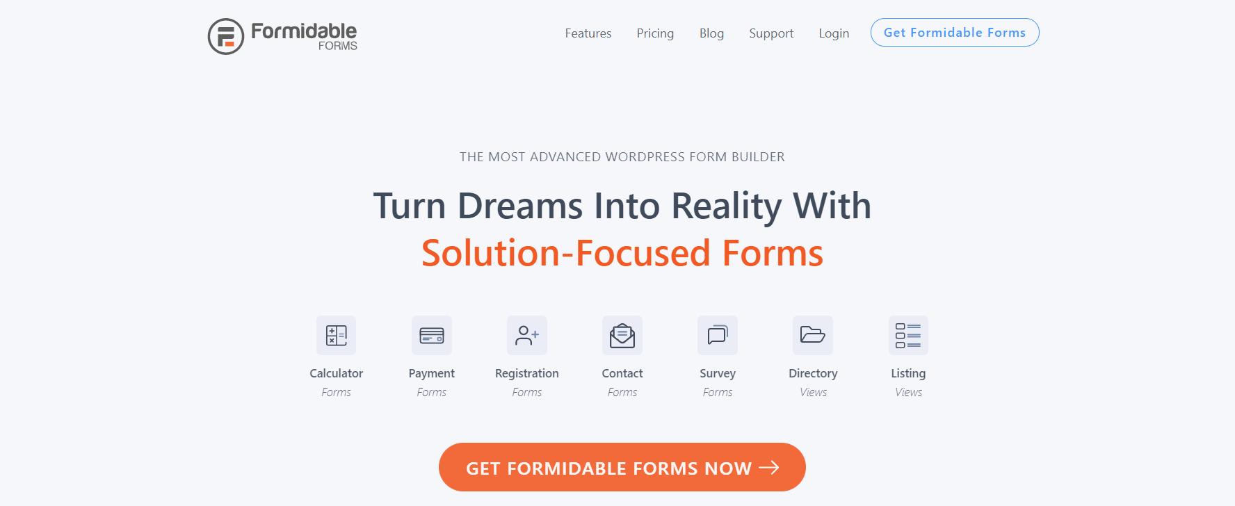 O plugin Formidable Form é uma ótima alternativa ao Formulários Google para usuários do WordPress
