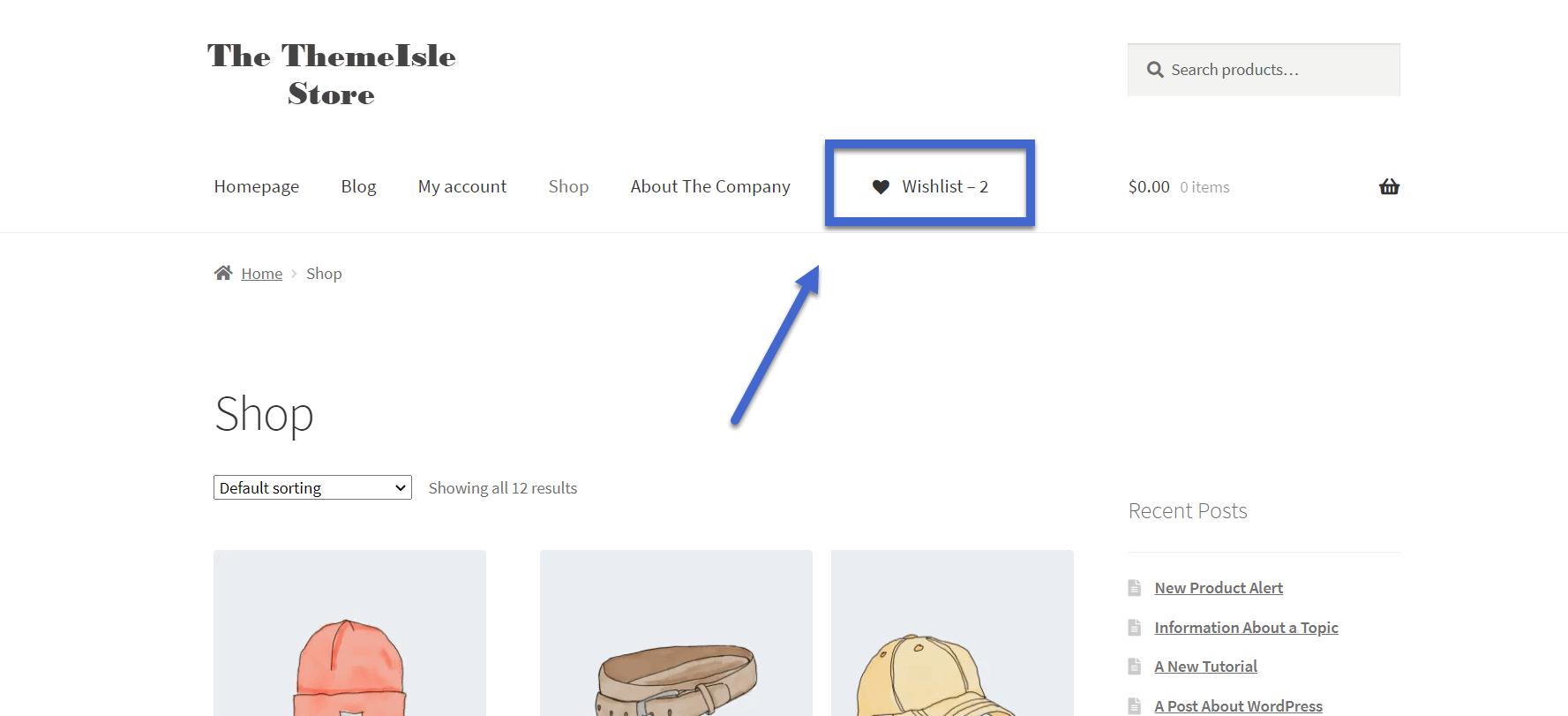 nova lista de desejos WooCommerce com contador