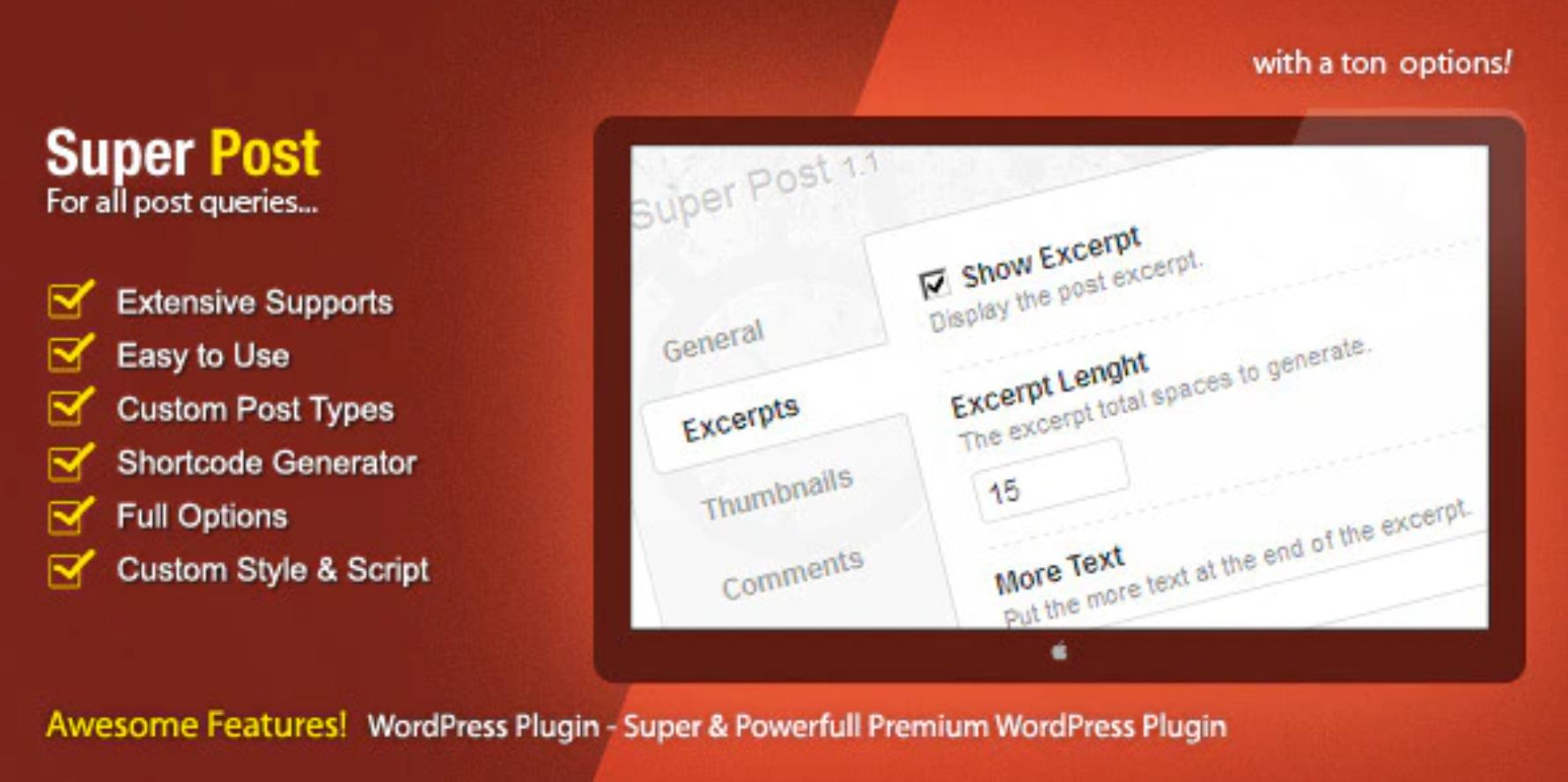 O plugin Super Post é um popular plugin de postagem do WordPress.