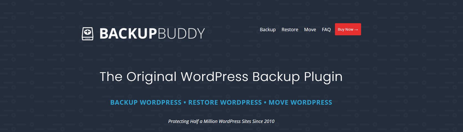 Backup Buddy é um plugin de migração WordPress completo com a opção de fazer backup e mover seu site.