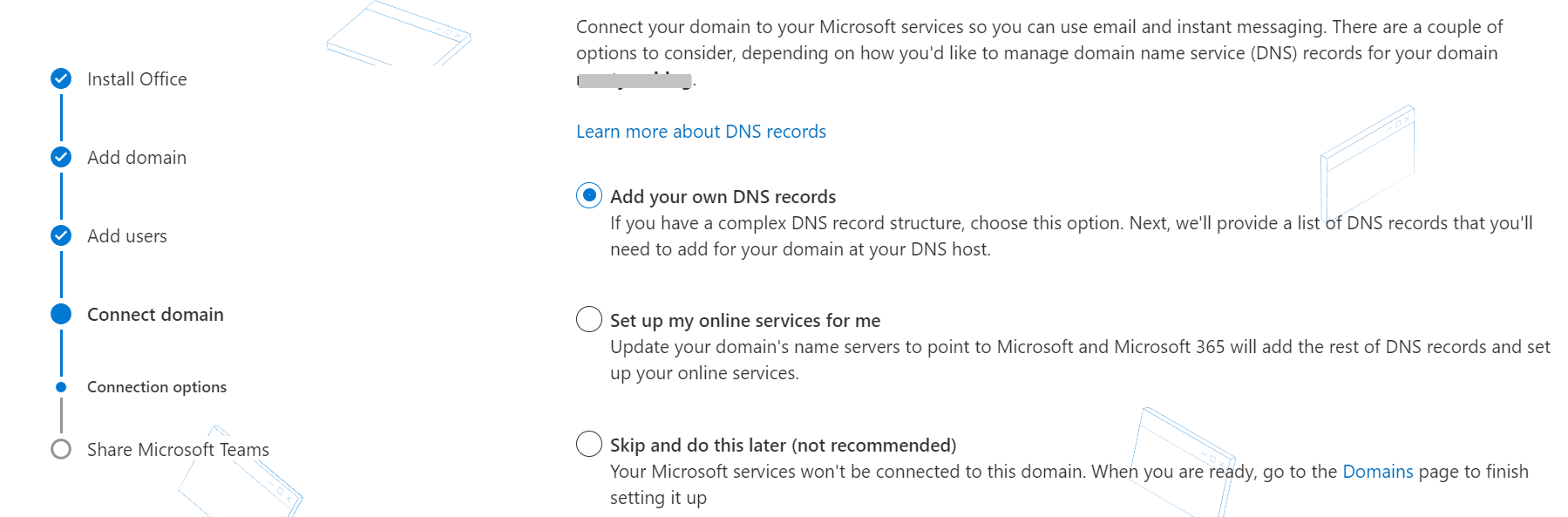 Configurar servicios en línea con Office 365.
