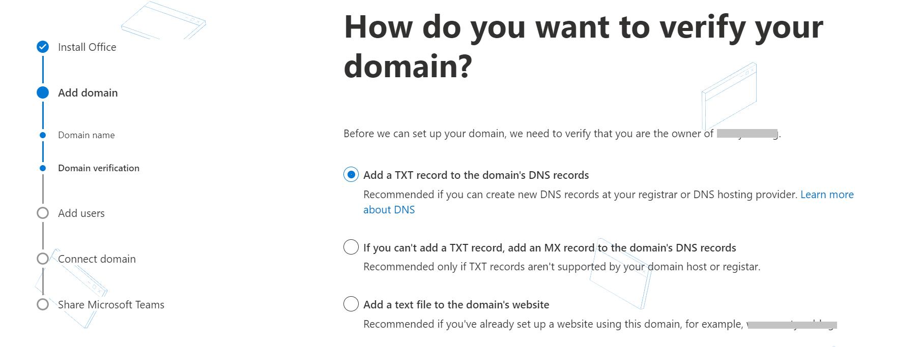 Verificación de dominio con Office 365