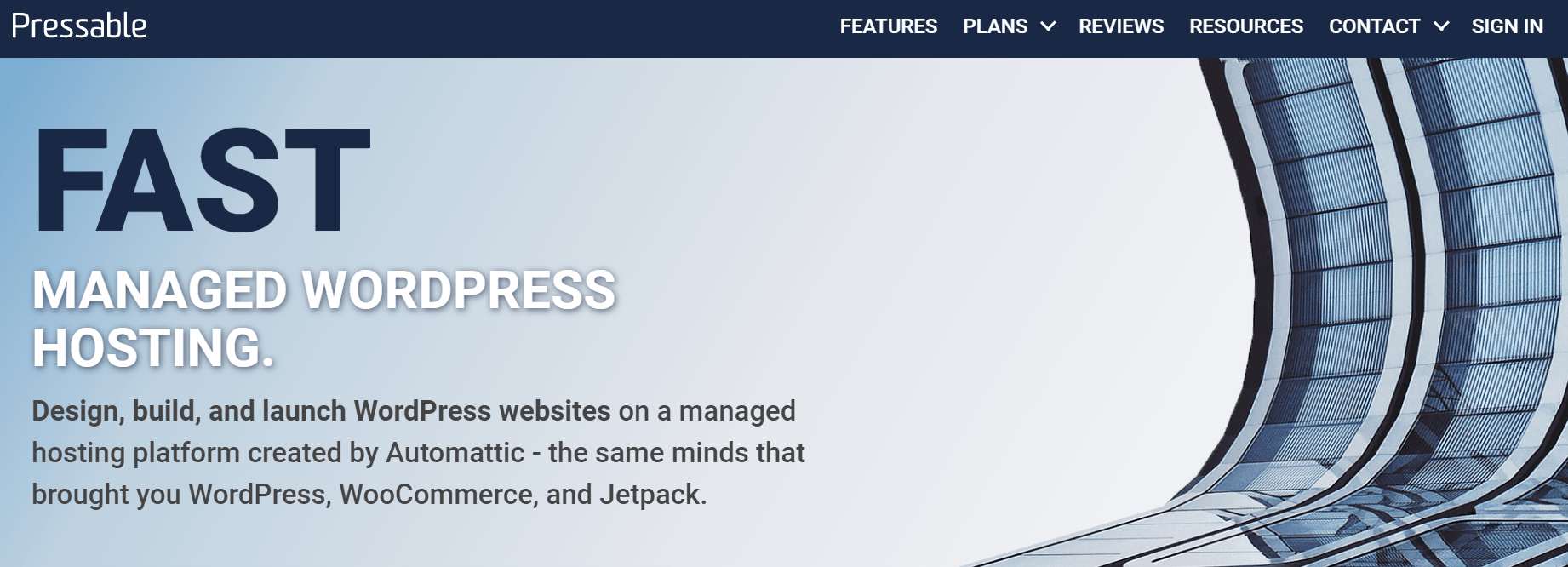 The Pressable homepage.