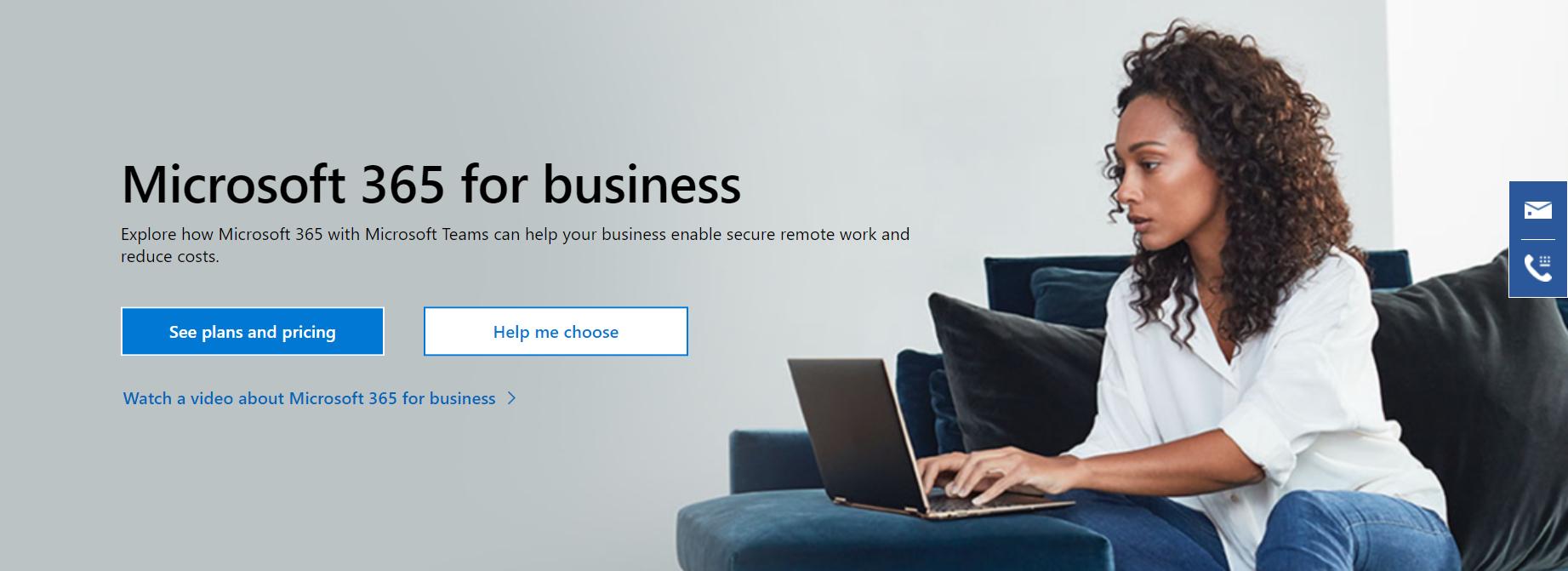 La página de inicio de Office 365.