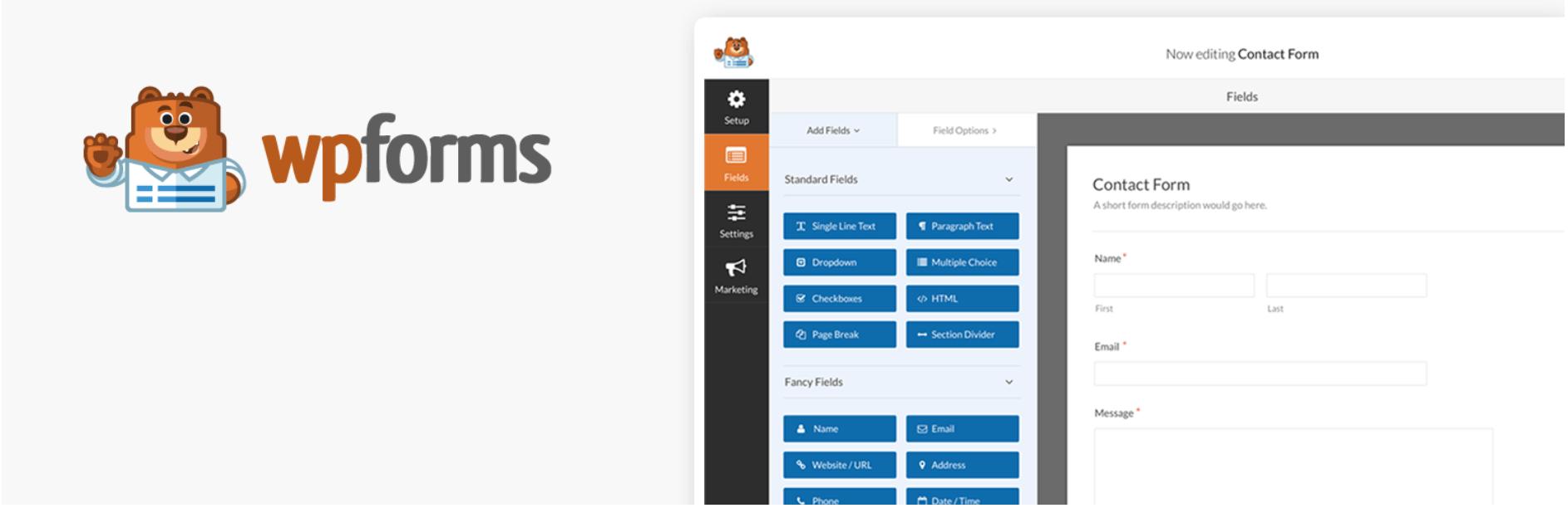 Plug-ins de login Premium WordPress como WP Forms ajudam a personalizar suas páginas de login.