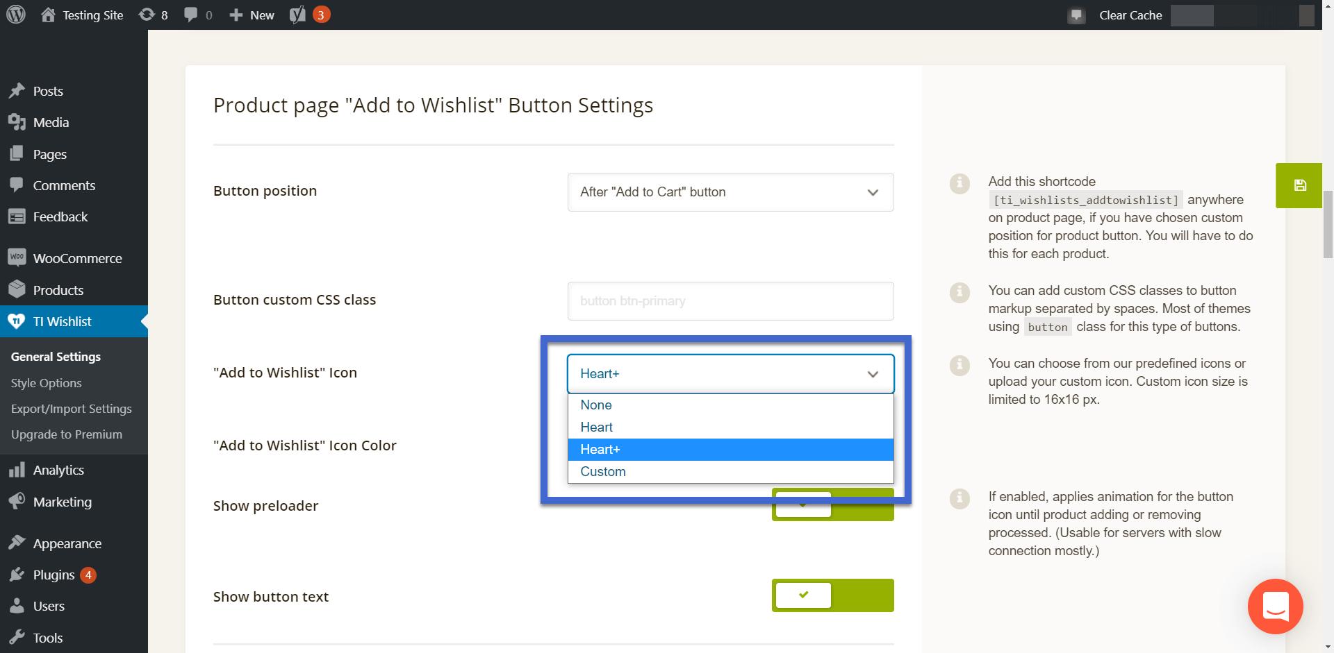 adicionar ícone