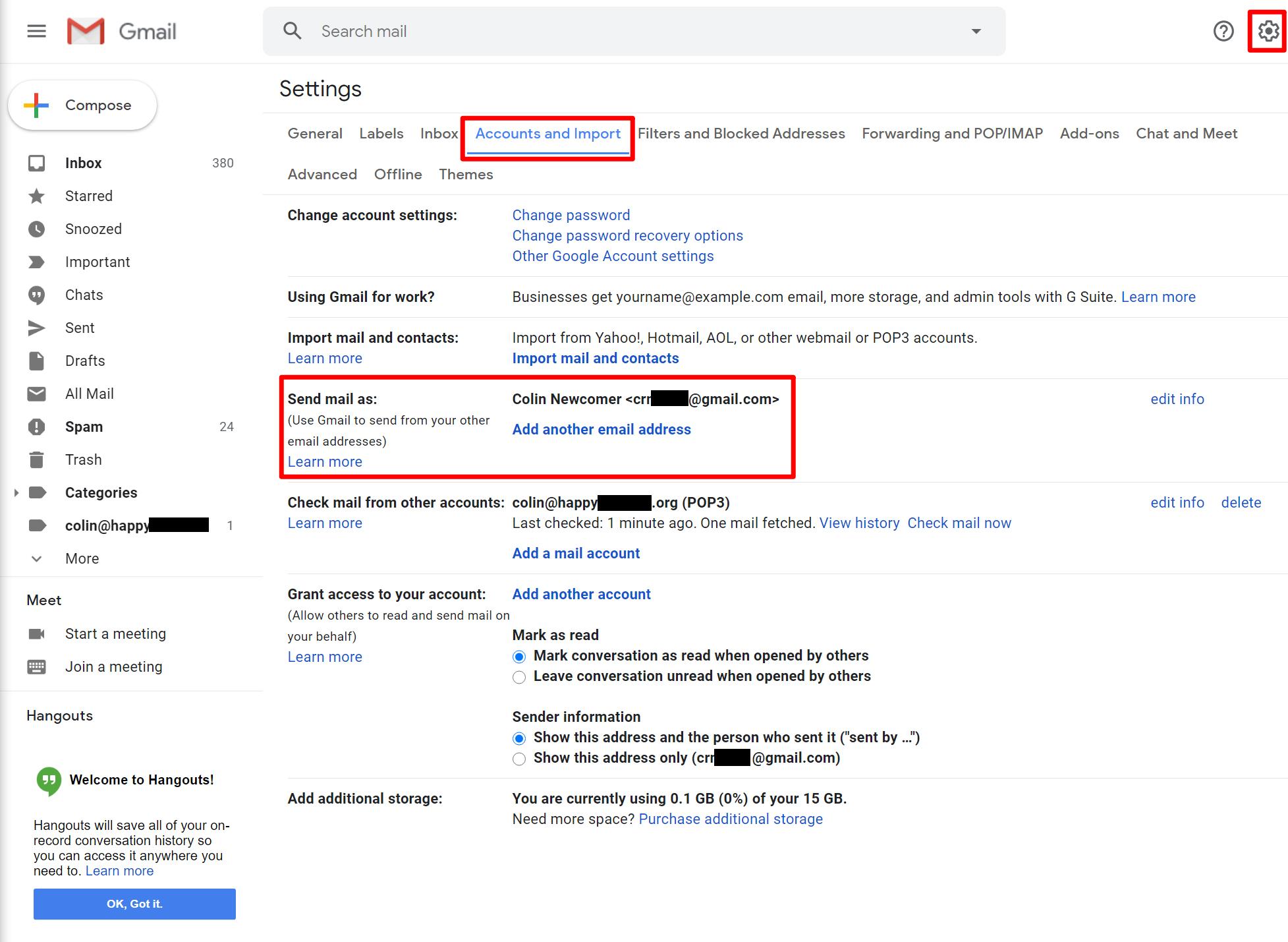 Access Gmail SMTP settings