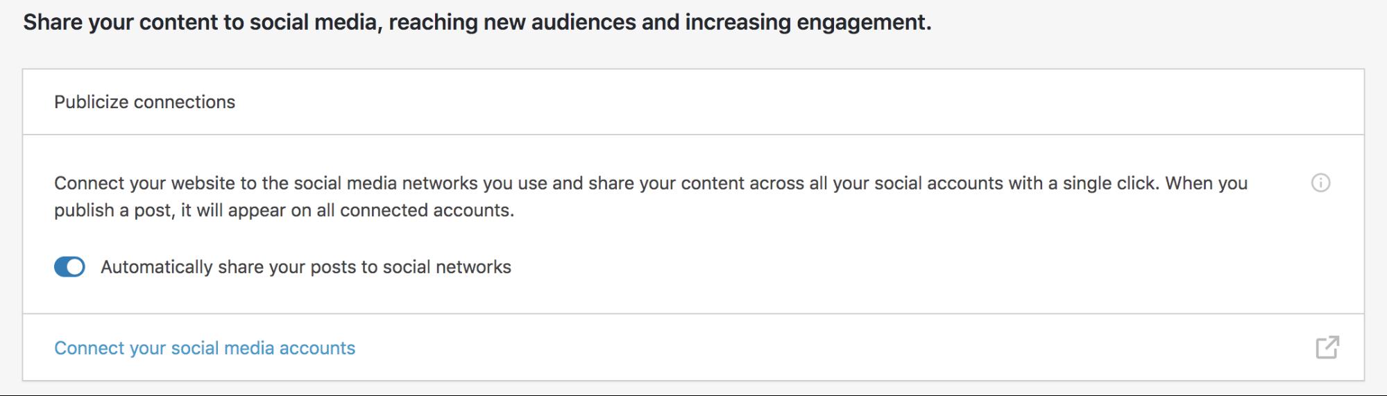 Configurar Jetpack para compartir automáticamente sus publicaciones en las redes sociales.