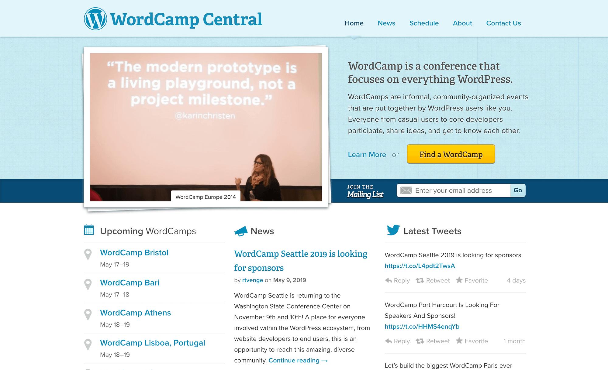 cómo ganar dinero en su sitio web con eventos como WordCamps