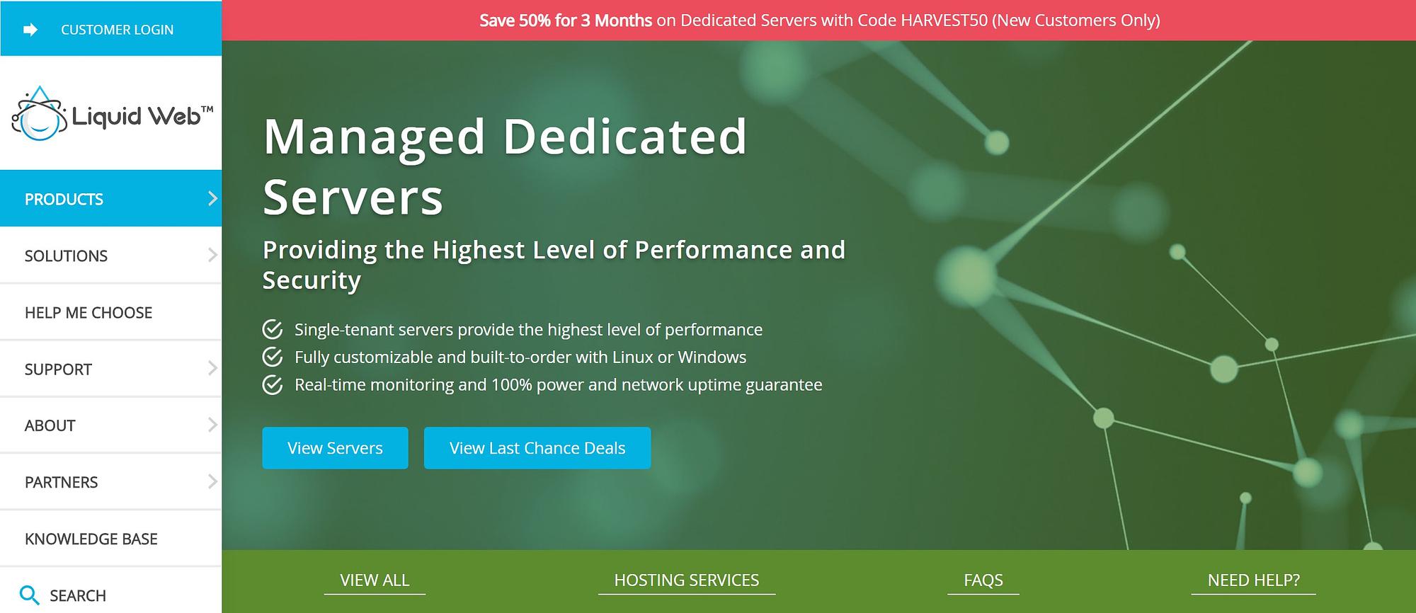 Liquid Web dedicated hosting plans show what it is