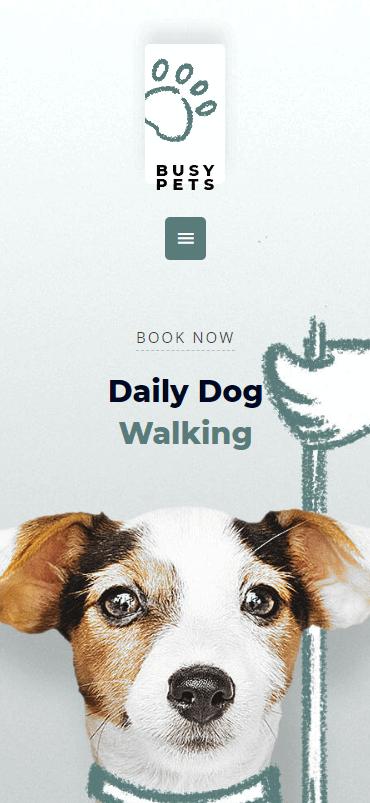 A mobile website built using Astra.