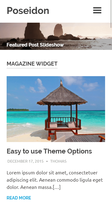 A mobile website built using Poseidon.