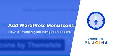 How to add WordPress menu icons