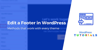 How to edit a footer in WordPress
