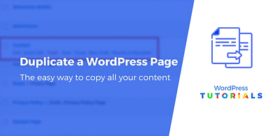 Dupliquer une page ou un article dans WordPress