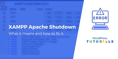 XAMPP Error Apache Shutdown Unexpectedly
