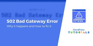 502 bad gateway wordpress