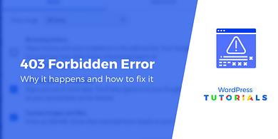 403 forbidden error