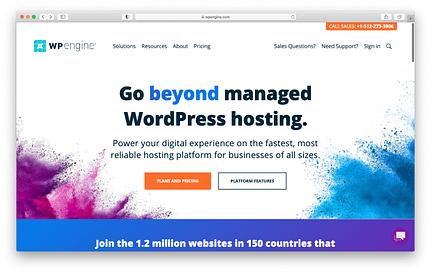 Best web hosting services: WP Engine