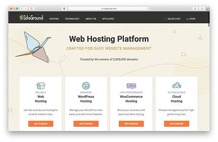 Best web hosting services: SiteGround