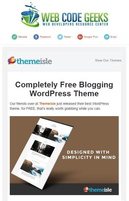 WebCodeGeeks Newsletter