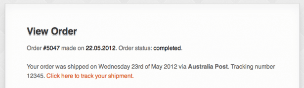 The Shipment Tracking plugin.