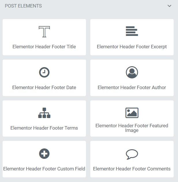 Header Footer Block Elementor