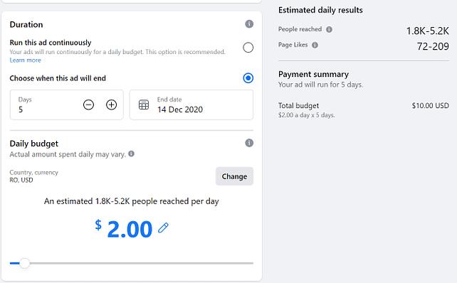 promote business idea via Facebook ads