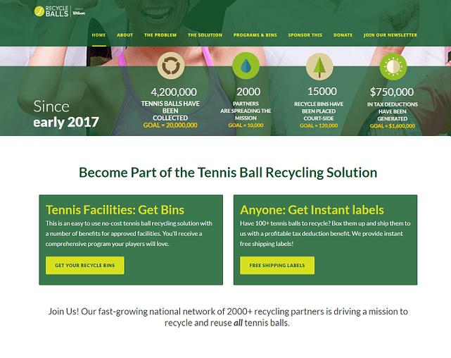 start an online business: website landing page example