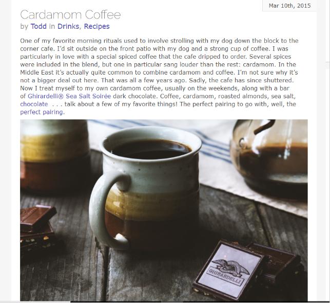 Sponsored Links - Cardamom Coffee Article Snapshot