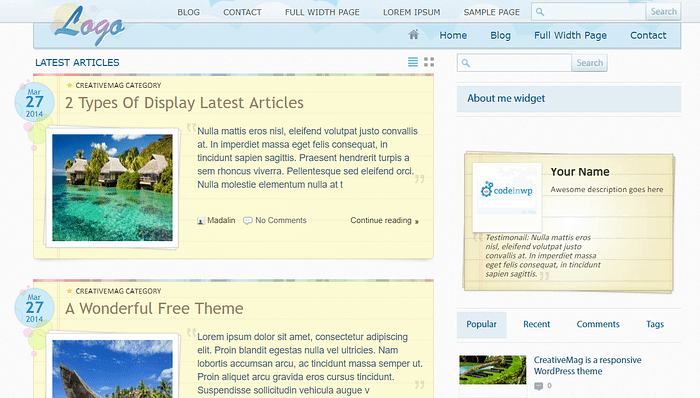 History of Blogging: First ThemeIsle Design