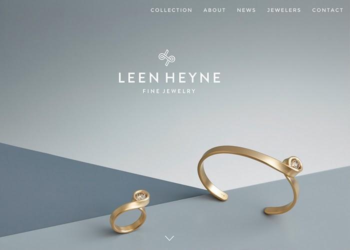 The minimalist design of the Leen Heyne website