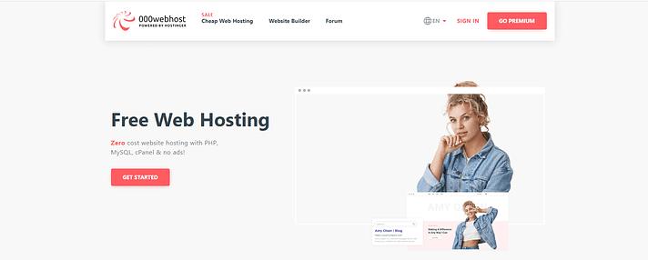 000WebHost website hosting.