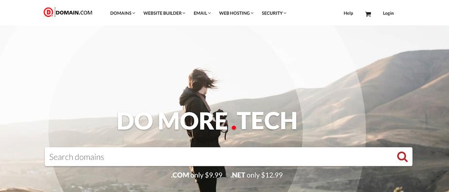 The Domain.com website offers premium domain names for sale