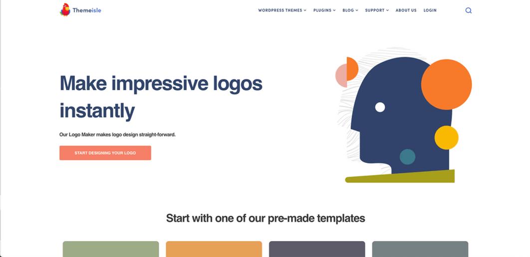 Themeisle logo maker