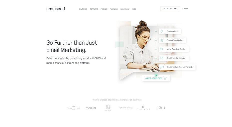 Omnisend is an all-in-one WooCommerce email marketing solution