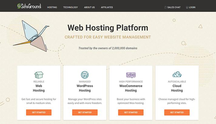 Fastest WordPress hosting: SiteGround