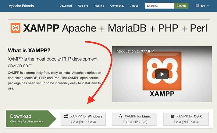 xampp website - your tool to install WordPress locally