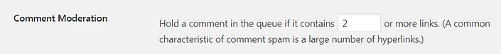 WordPress'te yorum başına izin verilen bağlantı sayısını değiştirme.