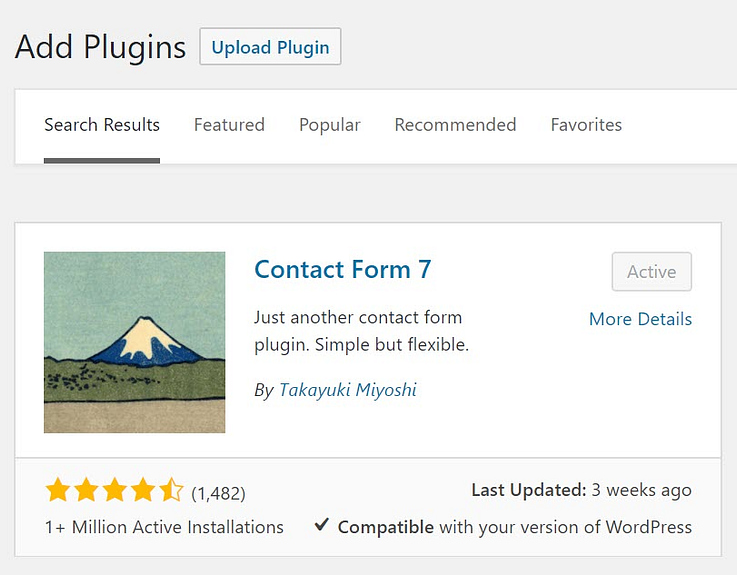 how to set up Contact Form 7: installing it