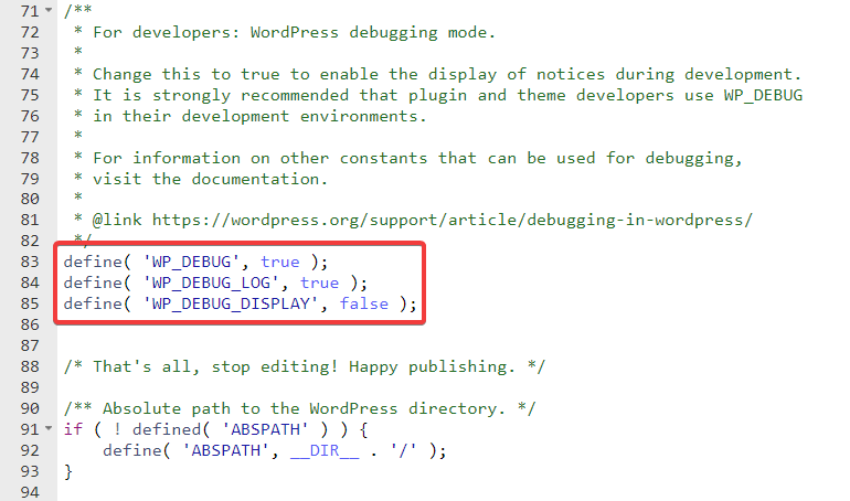 inserting code in wpconfig file