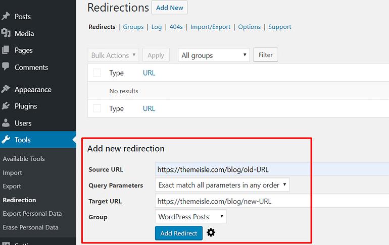Redirection 301 Redirect