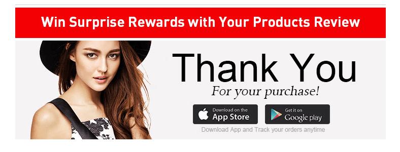 """UN """"Gracias por su compra"""" correo electrónico."""